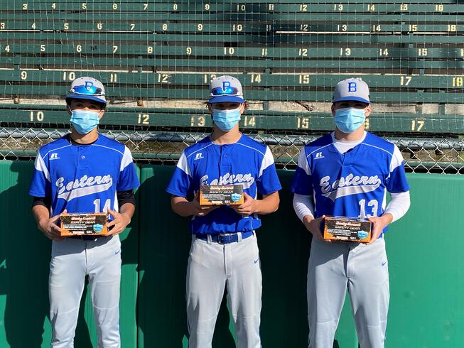 baseball players wearing facemasks