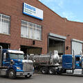 Trucks line up outside our CES Milwaukee facility.