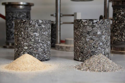 asphalt made from TAPS' recovered aggregate, tested at Rowan University