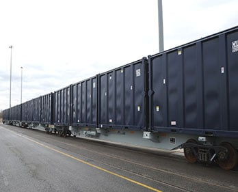 Rail cars are just one form of transportation that utilizes the solutions provided by Covanta.