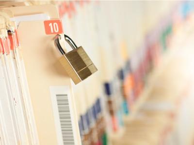 Security lock on file folders