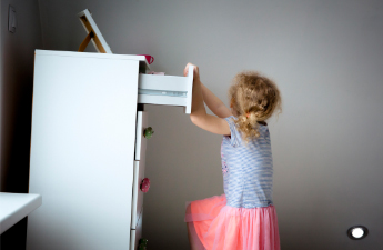 furniture tipping from a child's weight