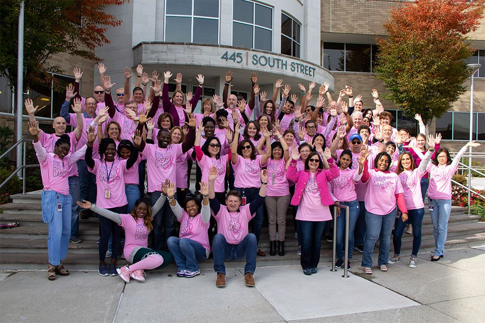 Covanta employees march for Breast Cancer awareness