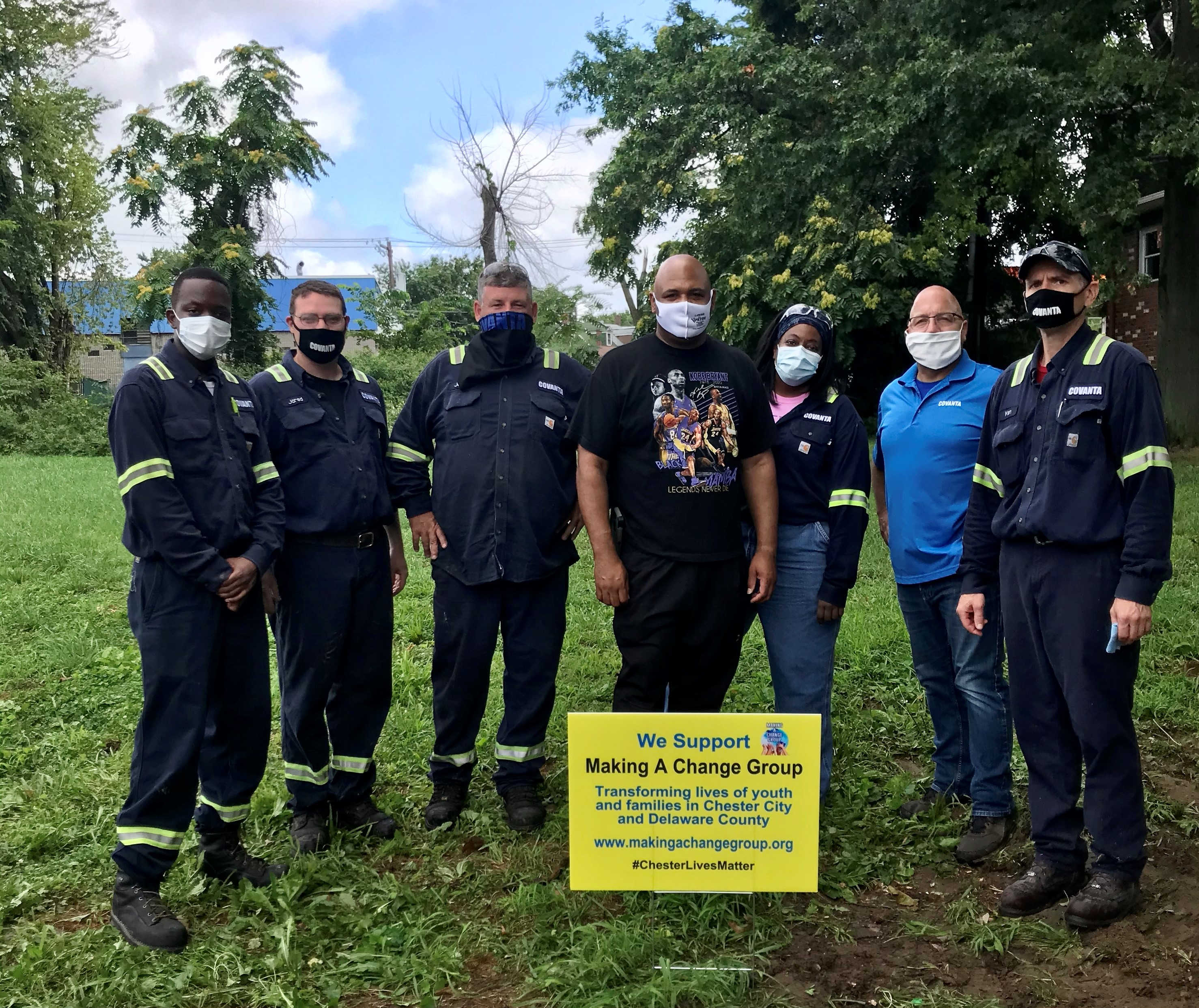 Covanta works with Chester residents to clean up city