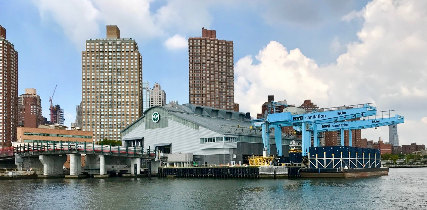 Marine Waste Transfer Station in New York City